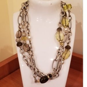 David Yurman Brown Figaro 925 18k Gold Pearls